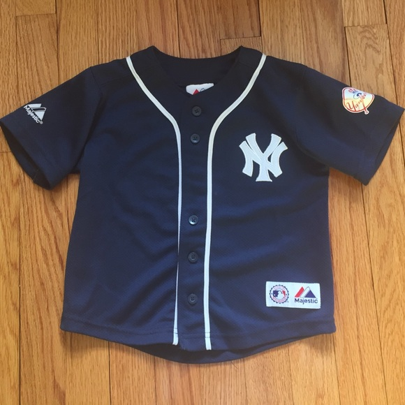 new concept 45c08 e1f18 Boys Navy Blue button front Yankee jersey size 4T